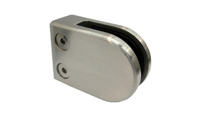 Stainless D Shaped Glass Clamp