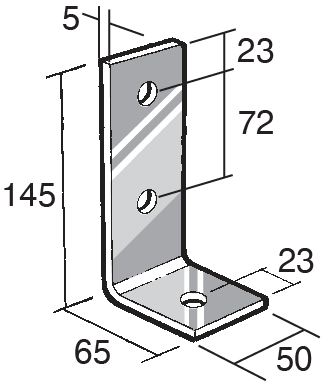 Building Bracket and Timber Connector Dimensions / Stainless