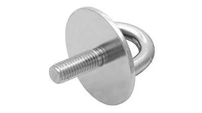 Stainless Round Eye Pad with Machine Thread