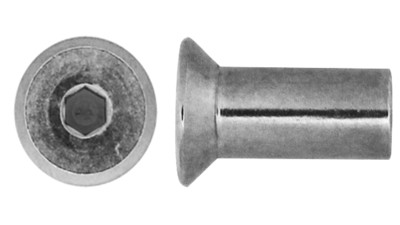 Stainless Countersunk Socket Barrel Nut