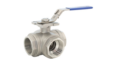 Stainless L and T Port 3 Way Ball Valve