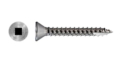 Stainless Csk Square Self Tapping Screw with T17 Tapper