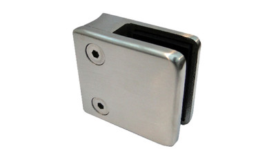Stainless Square Glass Clamp
