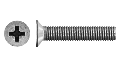 Stainless Countersunk Philips Machine Screw