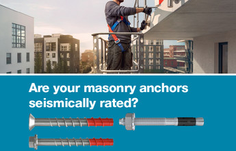 Are your masonry anchors seismically rated?